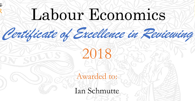 Labour Economics Excellence in Reviewing certificate